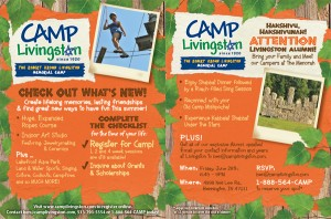 Register Online for Camp at CampLivingston.com (opens in new window)