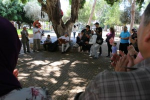 A park in Zichron Yaakov with RebbeSoul and Eliyahu McLean