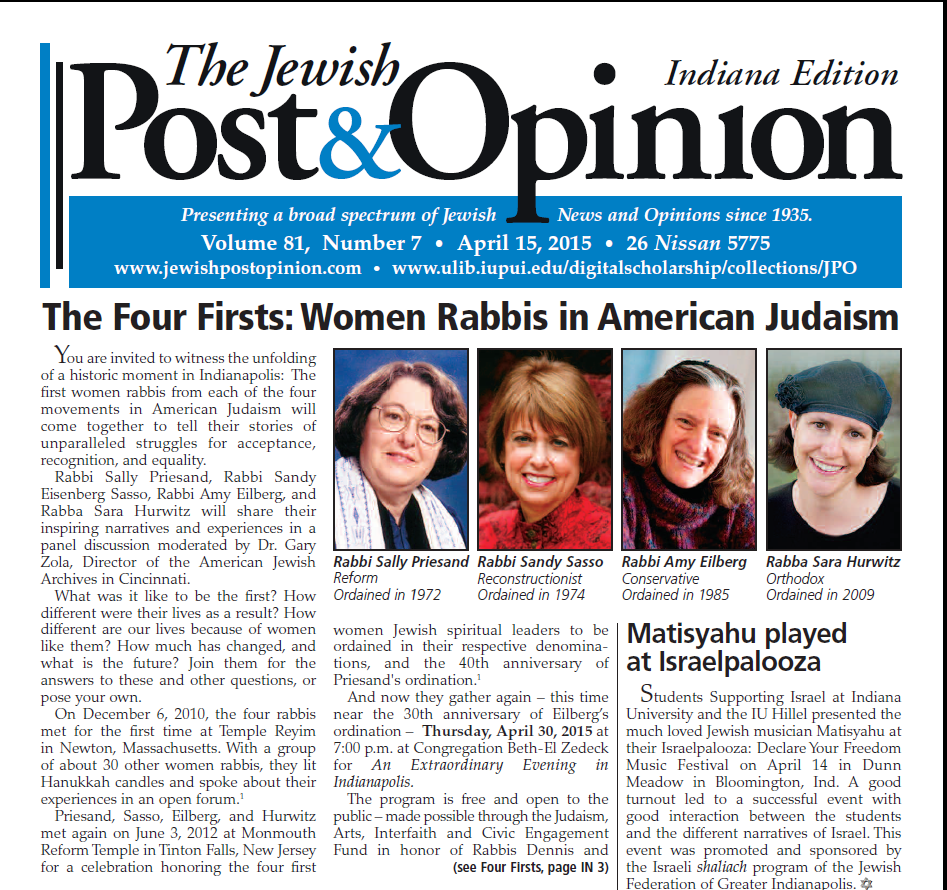 April 15, 2015 – Indiana Edition