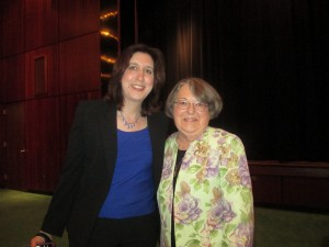 Rabbis Audrey Pollack of Temple Israel in W. Lafayette, Ind., and the first American woman rabbi,  Sally Priesand